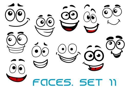 500x354 Hand Drawn Funny Face Emoticons Icons Vector Free Download