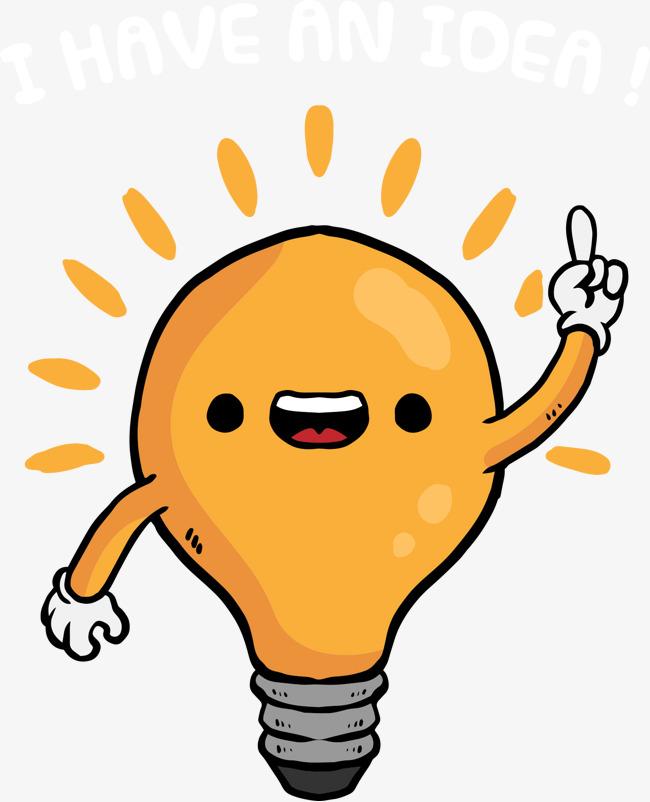 650x802 Vector Funny Cartoon Light Bulb, Cartoon Light Bulb, Funny Bulbs