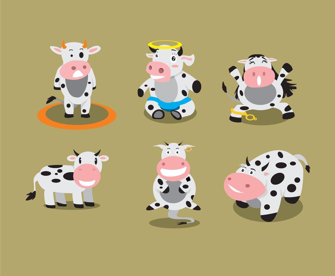 1136x936 Funny Cartoon Cow Vector Vector Art Amp Graphics