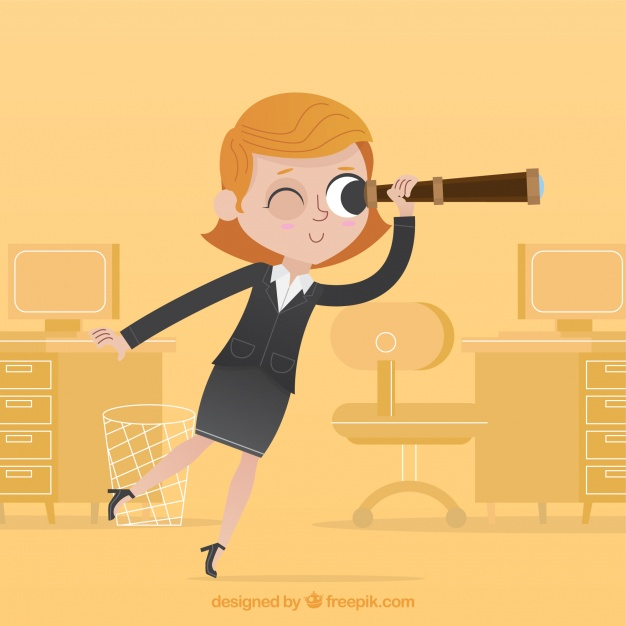 626x626 Happy Businesswoman Looking The Future Vector Free Download