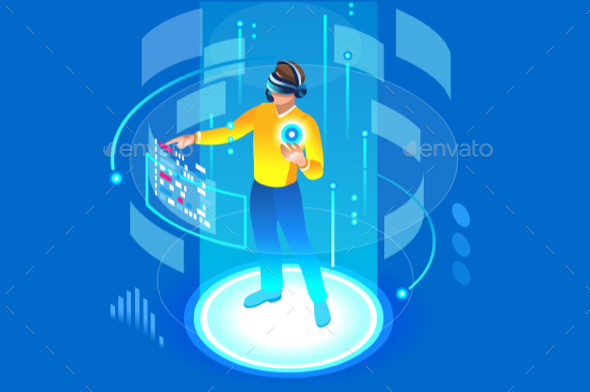 590x392 Into The Future Illustration Vector By Aurielaki Graphicriver