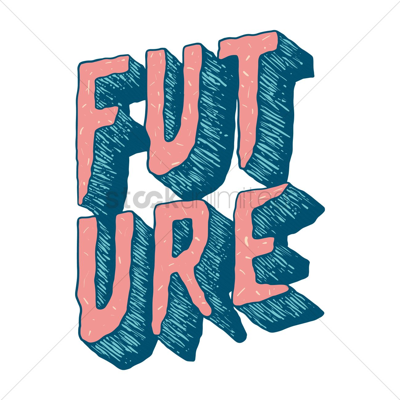 1300x1300 Text With The Word Future Vector Image