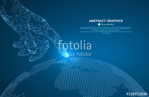 500x327 Touch The Future, Vector Illustration Of A Sense Of Science And