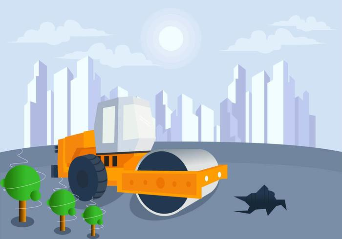 700x490 Construction In Future City Vector