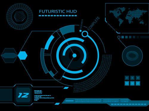 500x375 Futuristic Hud Interface Tech Background Vector 03 Hi Tech