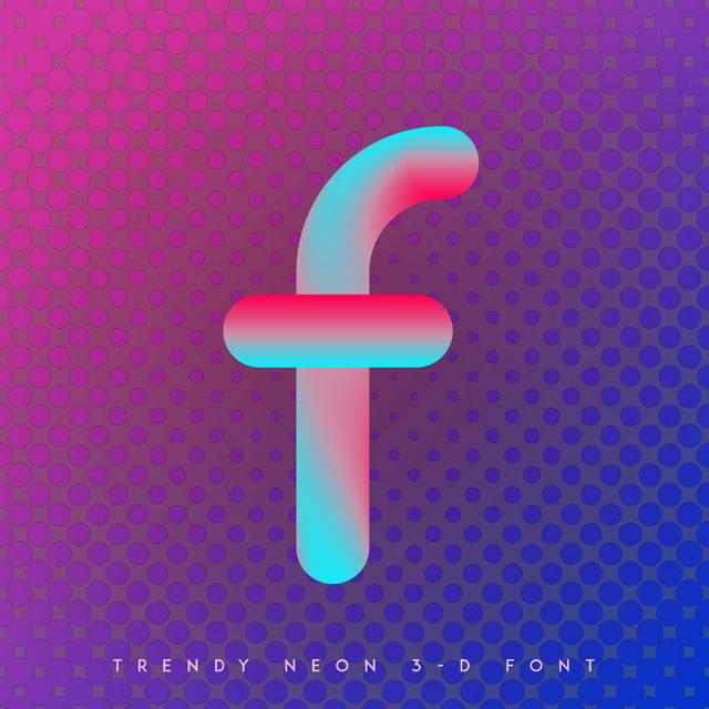 640x640 F Vector Neon Alphabet Blend Effect, Neon, Font, Alphabet Png And