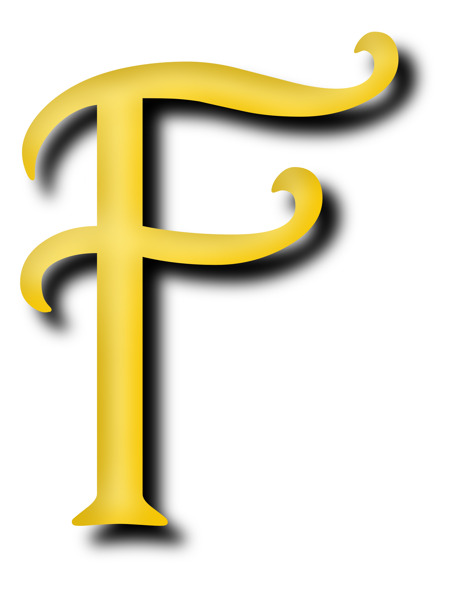 1839x2400 Letter F Vector Clipart Image