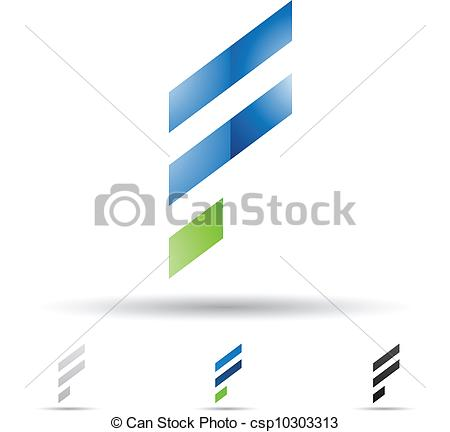 450x432 Abstract Icon For Letter F. Vector Illustration Of Abstract Icons