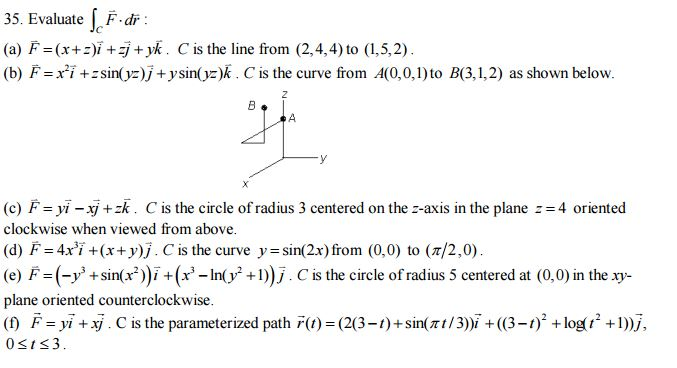 677x368 Solved Evaluate Integral C F Vector. Dr Vector F Vector