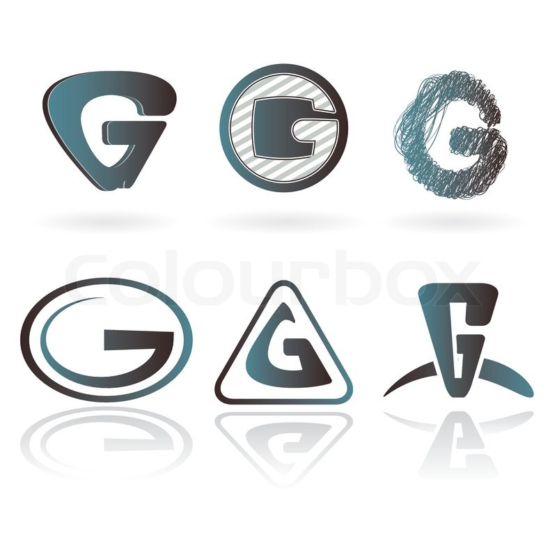 800x800 Set Of Letter G Designs Vector Image Stock Vector Colourbox