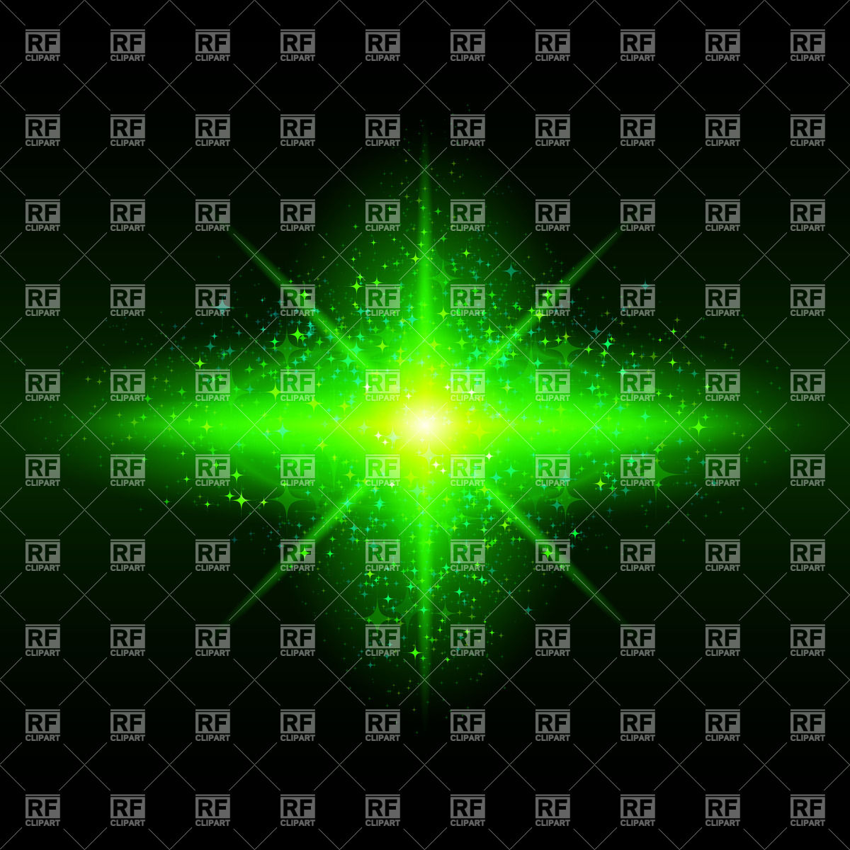 1200x1200 Green Glowing Galaxy Vector Image Vector Artwork Of Backgrounds