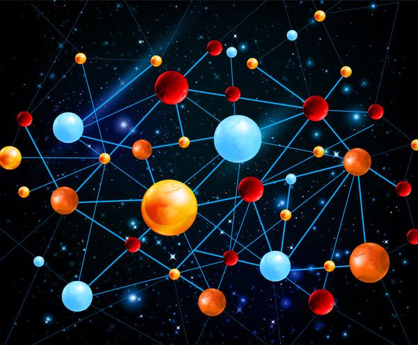 600x495 Planet Network Galaxy Free Vector In Adobe Illustrator Ai ( .ai
