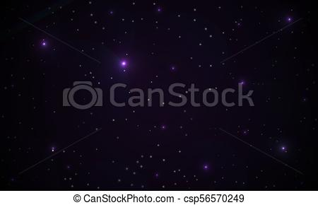 450x290 Abstract Purple Background Of A Galaxy, Vector Art Illustration