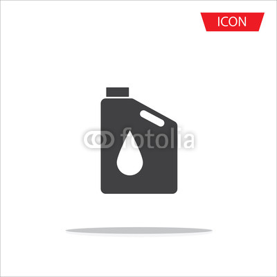400x400 Oil Icon Vector , Oil Gallon Icon Isolated On White Background
