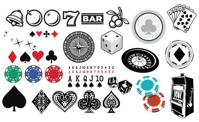 645x395 Gambling Vector Pack