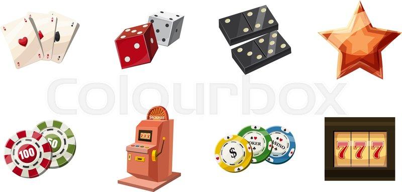 800x382 Gambling Icon Set. Cartoon Set Of Gambling Vector Icons For Web
