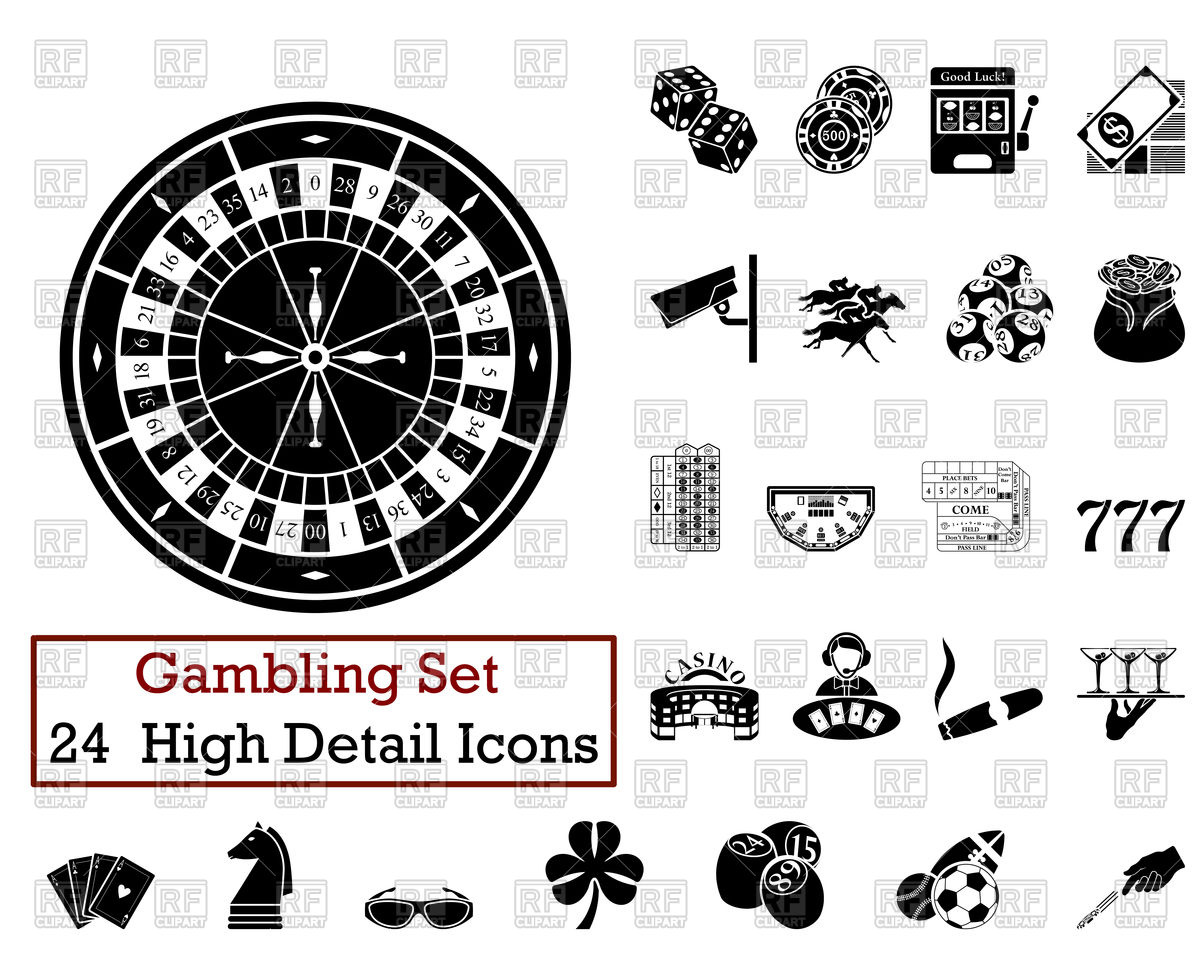 1200x960 Gambling Icons Vector Image Vector Artwork Of Sport And Leisure