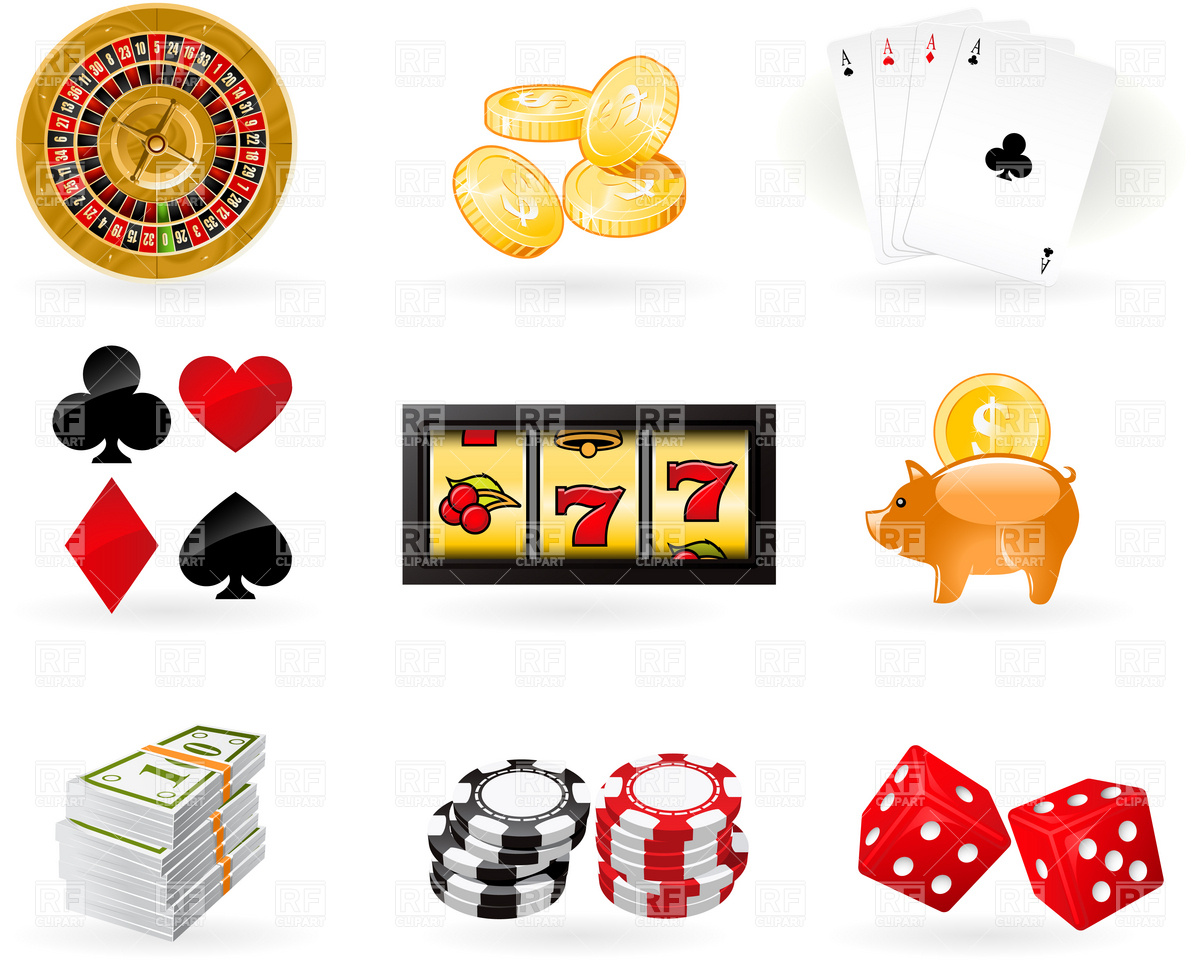1200x960 Playing Cards, Roulette Wheel And Gambling Chips Vector Image