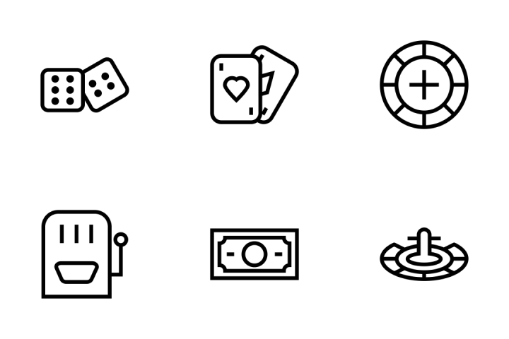 720x480 Premium Gambling Vector Icons Icon Pack Download In Svg, Png, Eps