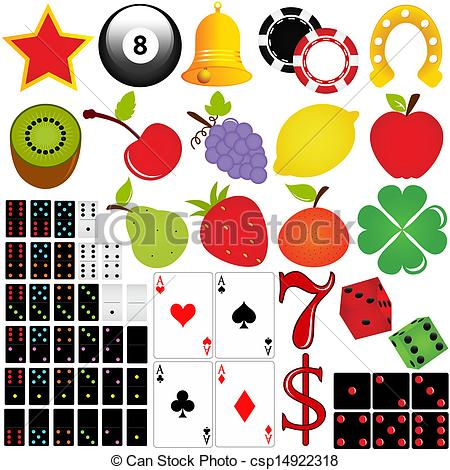 450x470 Vector Icon Set Casino And Gambling Isolated On White .