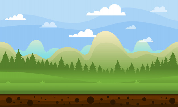 626x375 Mountain Game Background Vector Premium Download