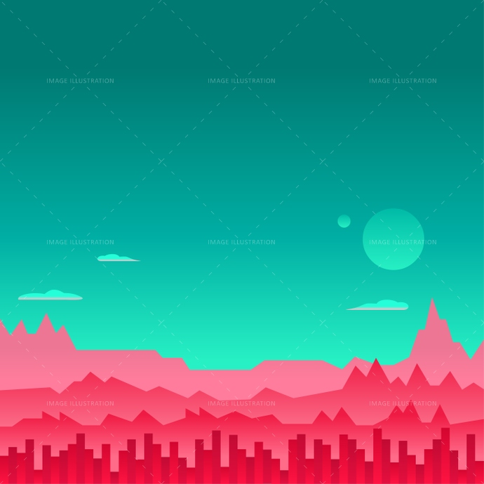 690x690 Arcade Game Background Mars Space Vector