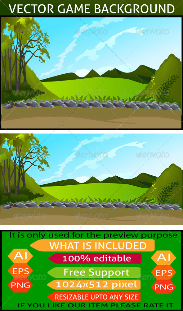 590x1000 Vector Game Background By Zakaria1854 Graphicriver