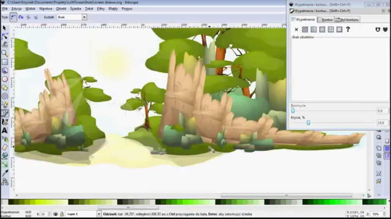 1280x720 Vector Graphic Making Game Background