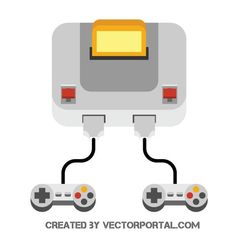 236x236 Game Console Joystick Vector Image Technology Vector
