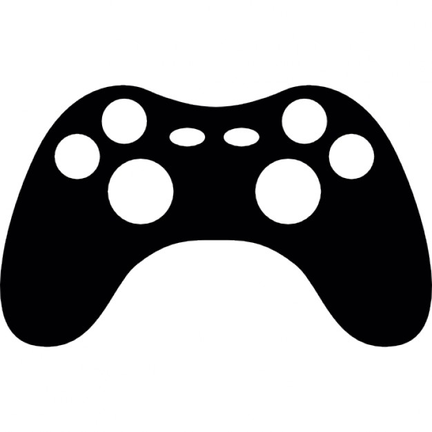 626x626 Gaming Console Silhouette Icons Free Download