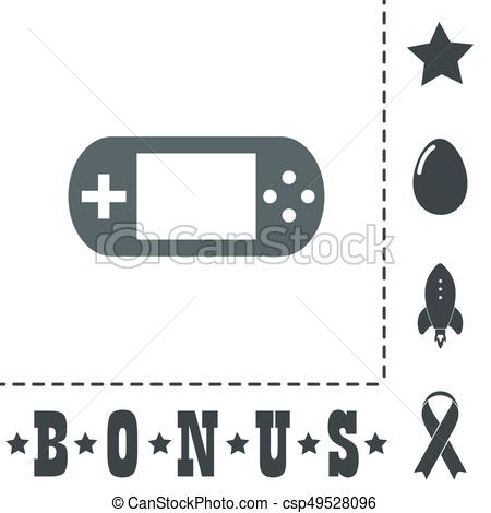 450x470 Handheld Game Console. Simple Flat Symbol Icon On White Background