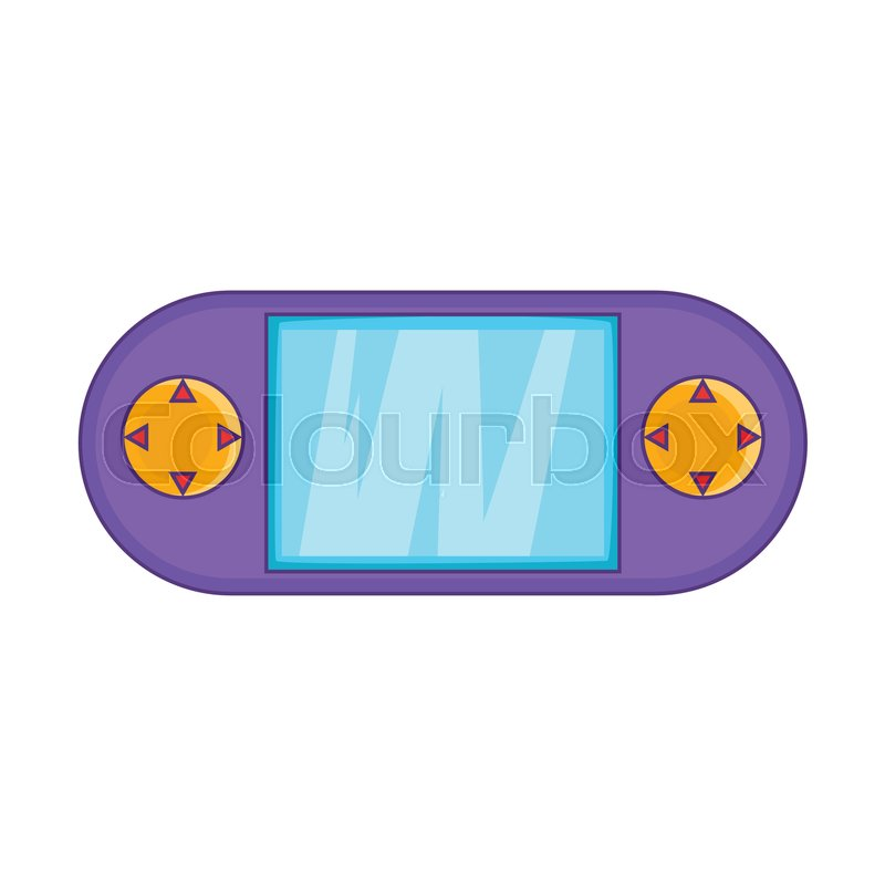 800x800 Portable Game Console Icon. Cartoon Illustration Of Console Vector