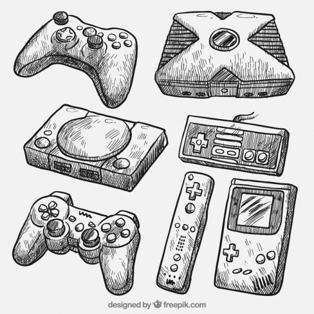 626x626 Realistic Drawings Of Different Consoles Vector Free Download