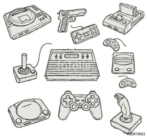 500x468 Vintage Game Consoles Stock Image And Royalty Free Vector Files
