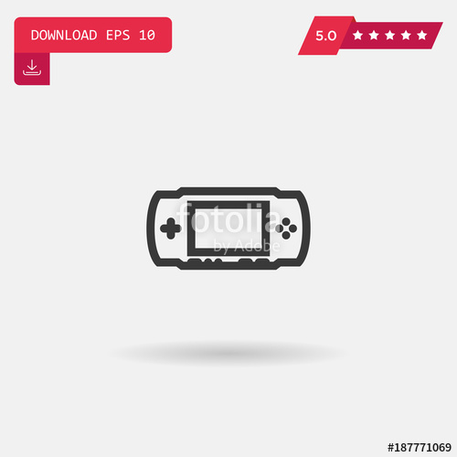500x500 Game Console Vector Icon Stock Image And Royalty Free Vector