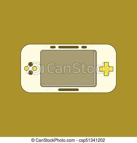 450x470 Flat Icon On Background Game Console. Flat Icon On Stylish