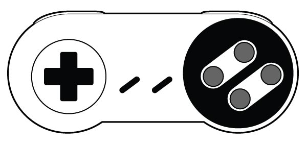 600x284 Fourth Generation 4 Button 16 Bit Game Controller Vector No Cost
