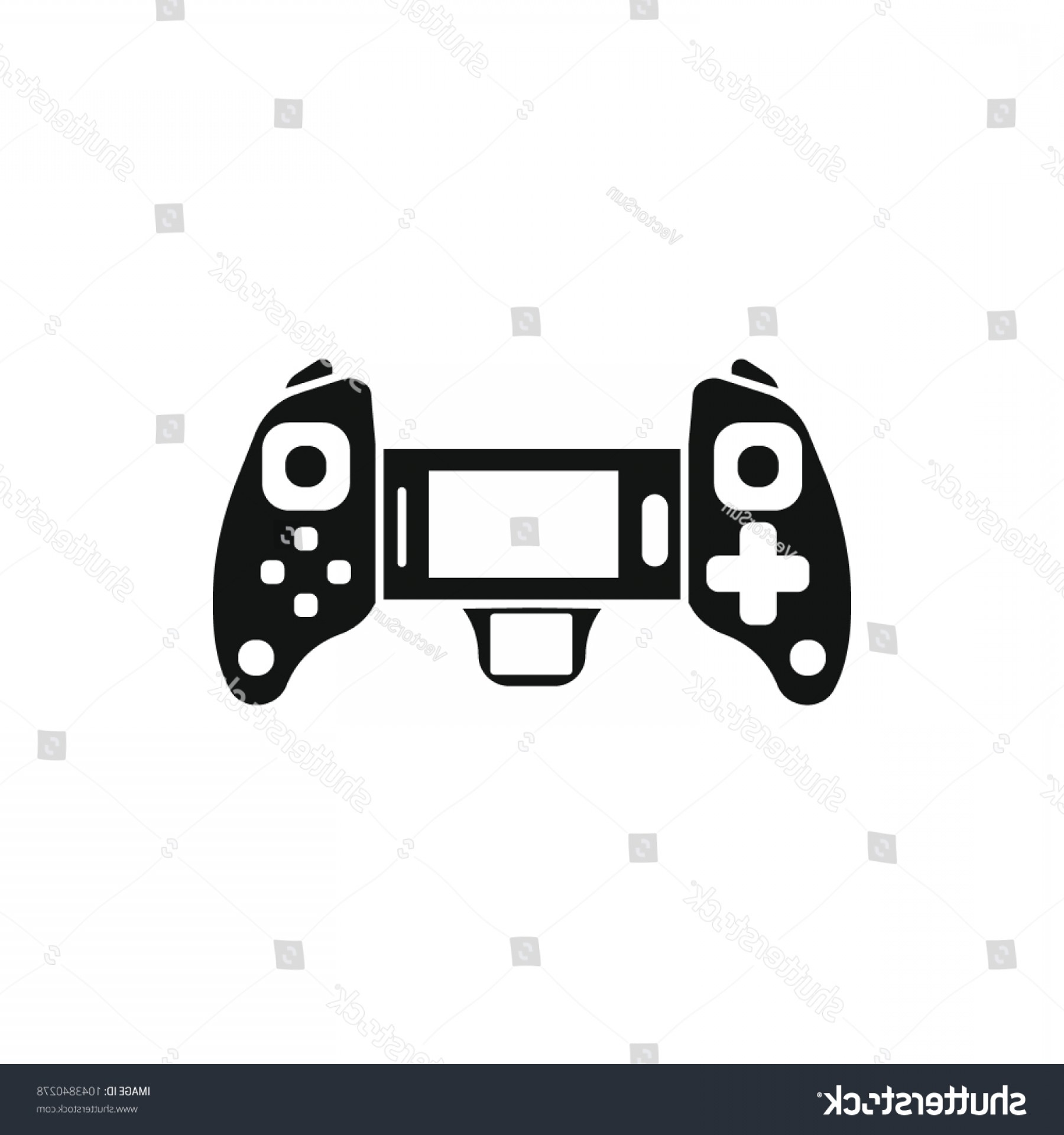 1800x1920 Game Controller Icon Silhouette Illustration Vector Shopatcloth
