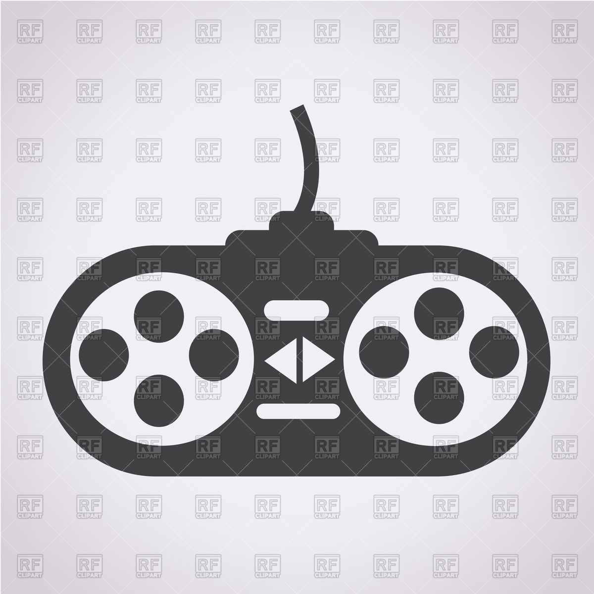 1200x1200 Game Controller Icon Vector Image Vector Artwork Of Signs