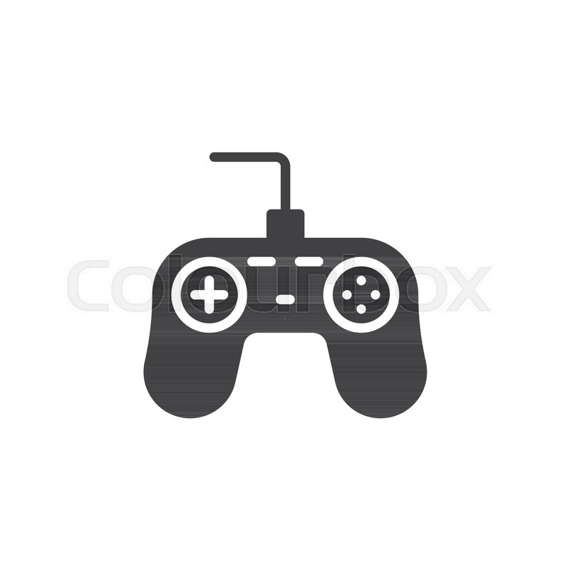 800x800 Game Controller Icon Vector, Filled Flat Sign, Solid Pictogram