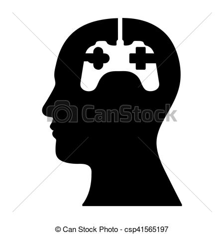 450x470 Head And Game Controller Icon Image Vector Illustration Design.