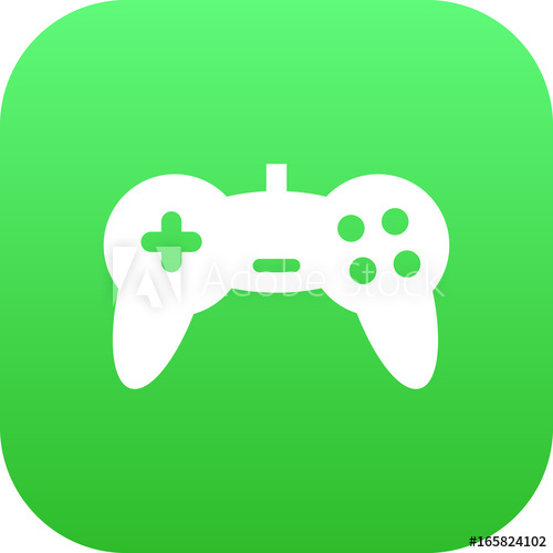 500x500 Isolated Game Controller Icon Symbol On Clean Background. Vector