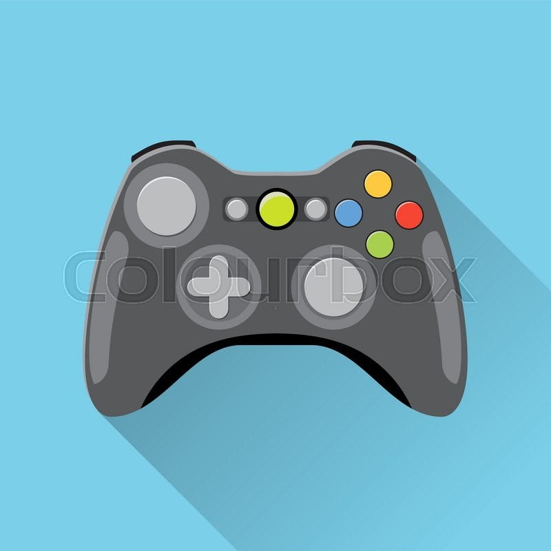 800x800 Video Game Controller Icon. Wireless Grey Gamepad. Vector