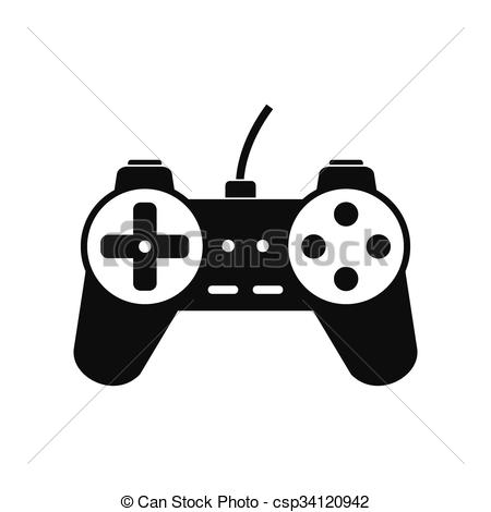 450x470 Video Game Controller Icon. Video Game Controller Black Simple