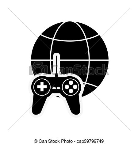 450x470 Flat Design Earth Globe Diagram And Game Controller Icon Vector