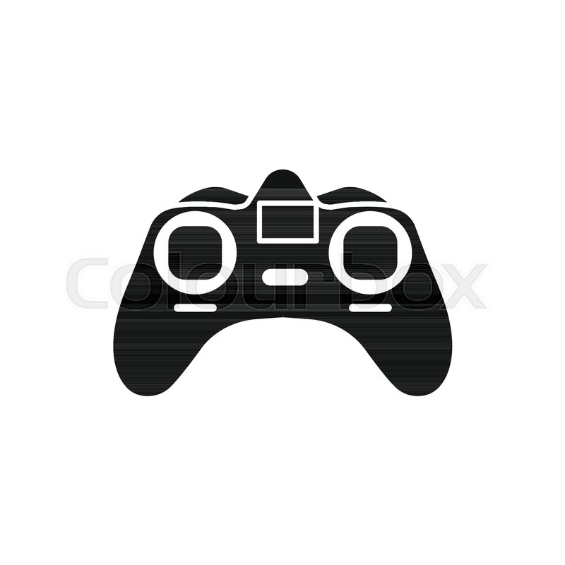 800x800 Game Controller Icon. Silhouette Illustration Of Game Controller