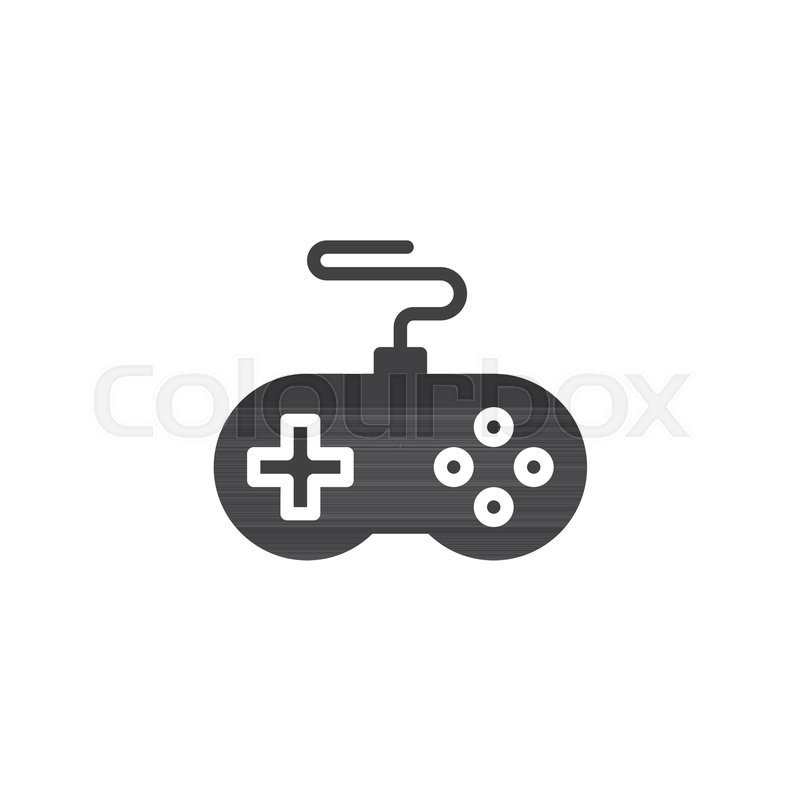 800x800 Game Controller Vector Icon. Filled Flat Sign For Mobile Concept