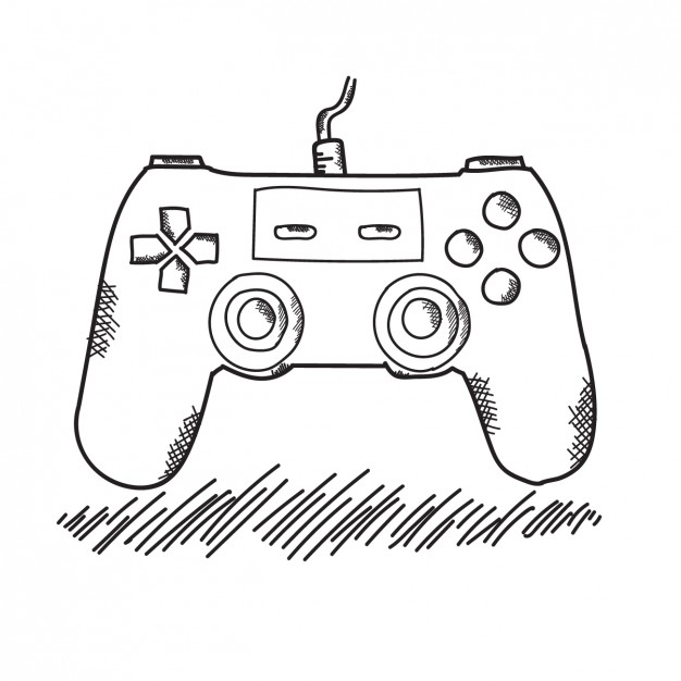 626x626 Hand Drawn Game Controller Vector Free Download