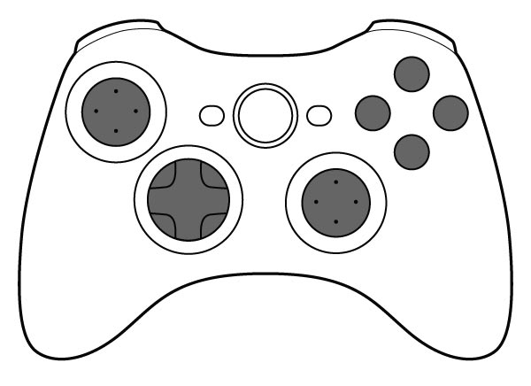 600x436 Seventh Generation 4 Button Game Controller Vector No Cost