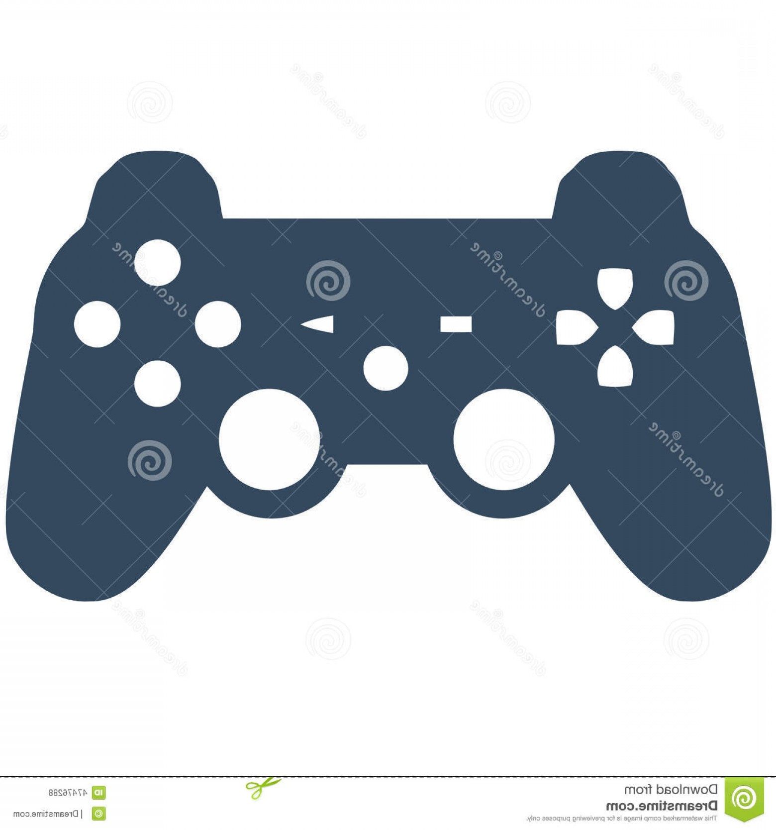 1560x1668 Stock Illustration Playstation Game Controller Vector Silhouette